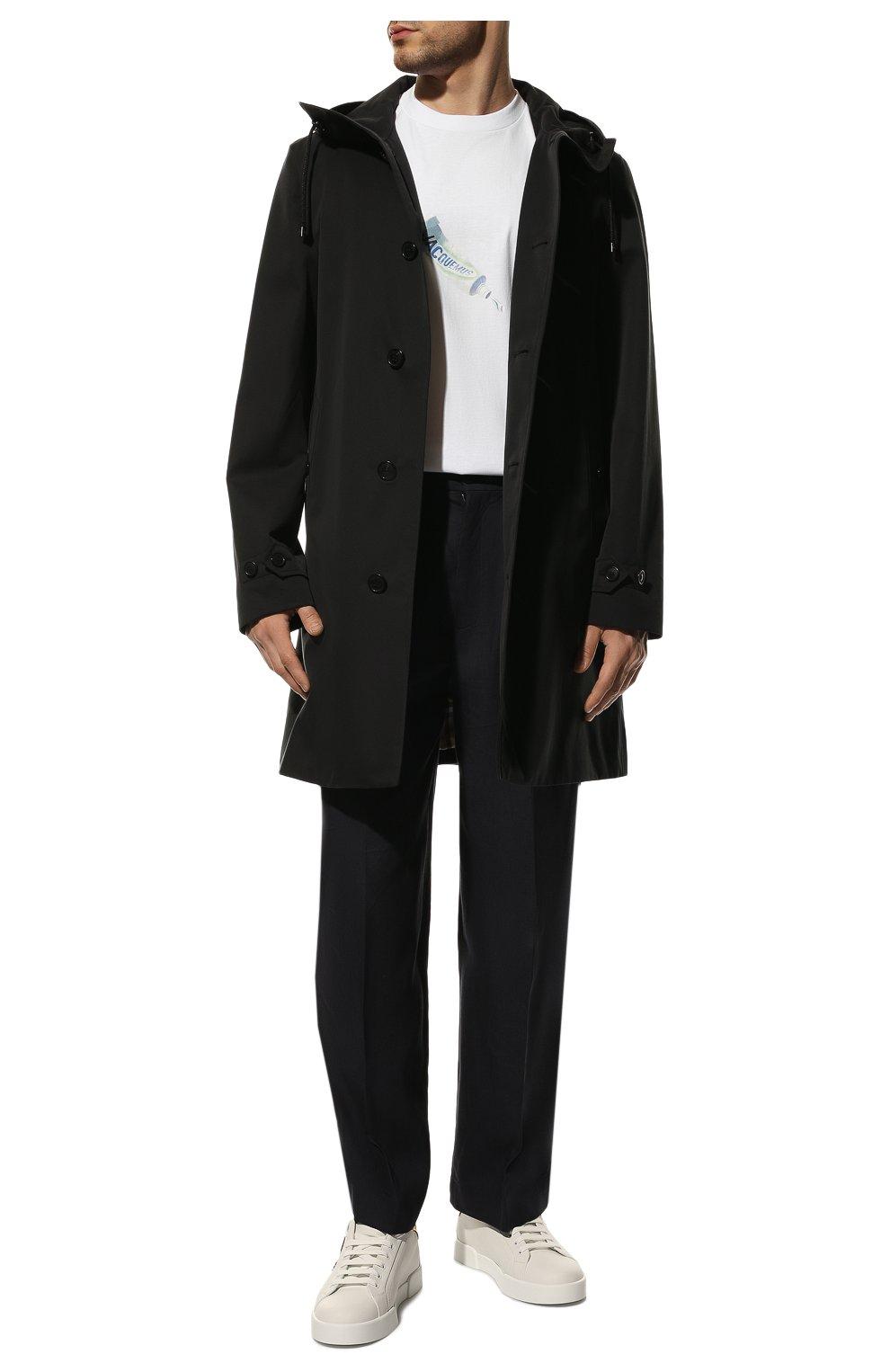 Мужские кожаные кеды portofino DOLCE & GABBANA белого цвета, арт. CS1761/AH136 | Фото 2
