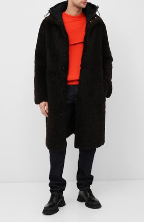 Мужская шуба из овчины BOTTEGA VENETA коричневого цвета, арт. 630417/VKV70 | Фото 2