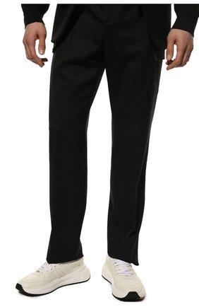 Мужские кожаные кроссовки BOTTEGA VENETA белого цвета, арт. 565646/VT040   Фото 3 (Материал внутренний: Натуральная кожа; Стили: Классический; Подошва: Массивная)