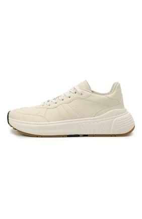 Мужские кожаные кроссовки BOTTEGA VENETA белого цвета, арт. 565646/VT040   Фото 4 (Материал внутренний: Натуральная кожа; Стили: Классический; Подошва: Массивная)