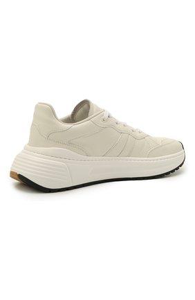 Мужские кожаные кроссовки BOTTEGA VENETA белого цвета, арт. 565646/VT040   Фото 5 (Материал внутренний: Натуральная кожа; Стили: Классический; Подошва: Массивная)
