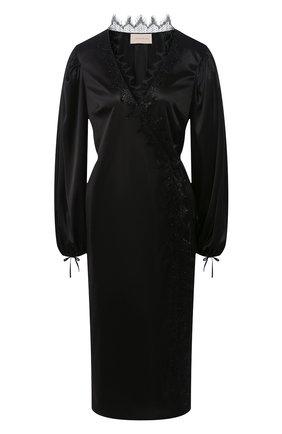 Женское платье CHRISTOPHER KANE черного цвета, арт. RE20 DR3277 SLINKY SATIN JERSEY | Фото 1