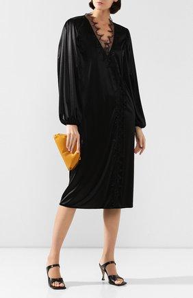 Женское платье CHRISTOPHER KANE черного цвета, арт. RE20 DR3277 SLINKY SATIN JERSEY | Фото 2