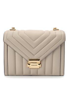 Женская сумка whitney large MICHAEL MICHAEL KORS бежевого цвета, арт. 30F8GXIL3T   Фото 1