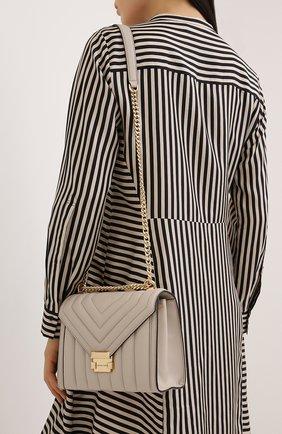 Женская сумка whitney large MICHAEL MICHAEL KORS бежевого цвета, арт. 30F8GXIL3T   Фото 2