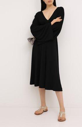Женские текстильные сандалии MICHAEL MICHAEL KORS золотого цвета, арт. 40R8MKFA1D | Фото 2