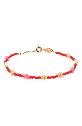 Женская браслет petals ANNI LU красного цвета, арт. 180-01-20 | Фото 1