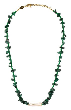 Женское колье ines ANNI LU зеленого цвета, арт. 192-20-23 | Фото 1