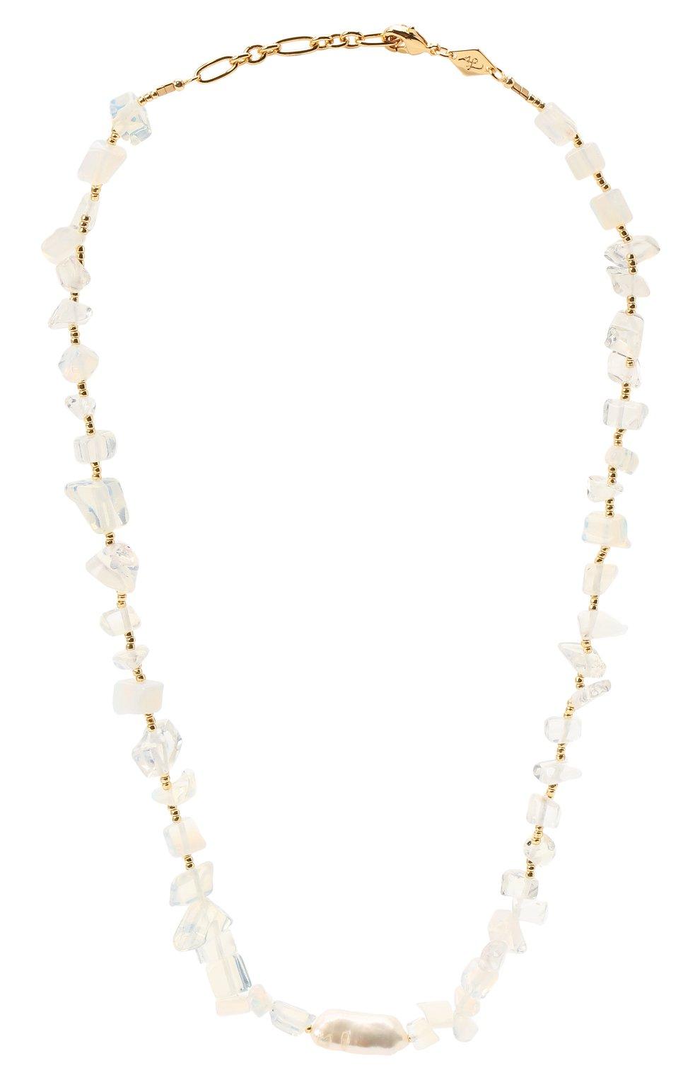 Женское колье ines ANNI LU белого цвета, арт. 192-20-26 | Фото 1 (Материал: Металл)