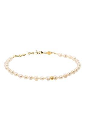 Женская браслет stellar pearly anklet ANNI LU белого цвета, арт. 201-50-35 | Фото 1