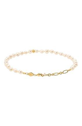 Женская браслет stellar pearly anklet ANNI LU белого цвета, арт. 201-50-35 | Фото 2