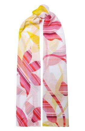 Мужские хлопковый шарф ESCADA SPORT белого цвета, арт. 5033741   Фото 1