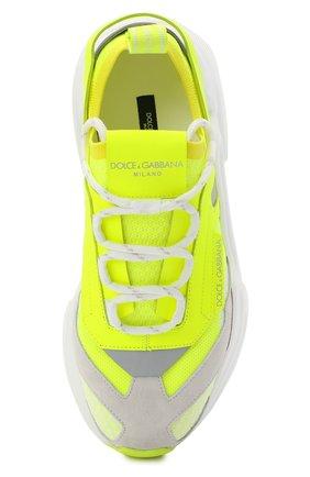 Женские комбинированные кроссовки day master DOLCE & GABBANA желтого цвета, арт. CK1749/AX153   Фото 5