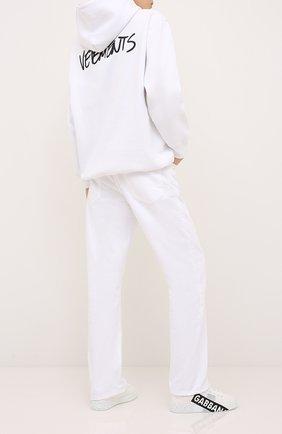 Женские текстильные кеды portofino DOLCE & GABBANA белого цвета, арт. CK1544/AJ993 | Фото 2