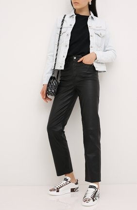 Женские кожаные кеды portofino DOLCE & GABBANA белого цвета, арт. CK1544/AX610 | Фото 2