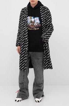 Мужской хлопковое худи VETEMENTS черного цвета, арт. UAH21TR635 1605/M | Фото 2