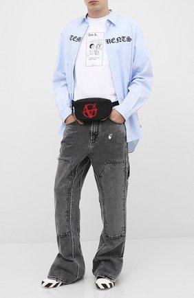 Мужская поясная сумка VETEMENTS черного цвета, арт. UAH21BA260 1301/M | Фото 2