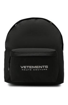Мужской рюкзак VETEMENTS черного цвета, арт. UAH21BA254 1301/M | Фото 1