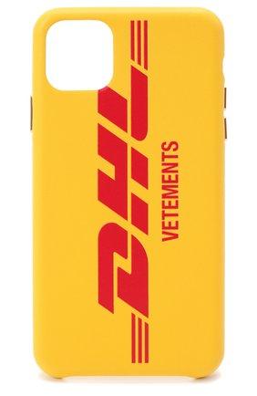 Мужской чехол для iphone 11 pro max VETEMENTS желтого цвета, арт. UAH21AC284 1373/M/IPH0NE 11 PR0 MAX | Фото 1