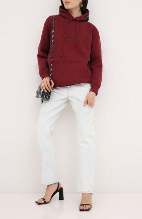 Женская хлопковое худи VETEMENTS бордового цвета, арт. UAH21TR630 1601/W | Фото 2