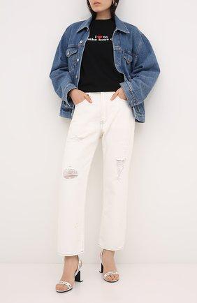 Женская хлопковая футболка VETEMENTS черного цвета, арт. UAH21TR569 1600/W | Фото 2