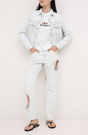Женская хлопковая футболка VETEMENTS белого цвета, арт. UAH21TR569 1600/W | Фото 2