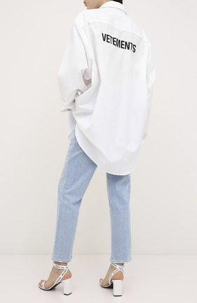 Женская хлопковая рубашка VETEMENTS белого цвета, арт. UAH21SH068 1008/W | Фото 2