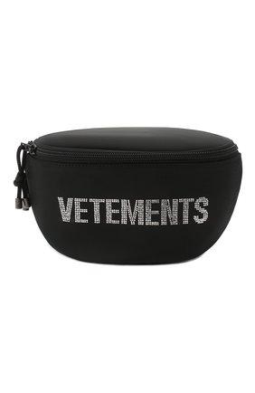 Женская поясная сумка VETEMENTS черного цвета, арт. UAH21BA259 1301/W | Фото 1