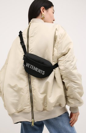Женская поясная сумка VETEMENTS черного цвета, арт. UAH21BA259 1301/W | Фото 2