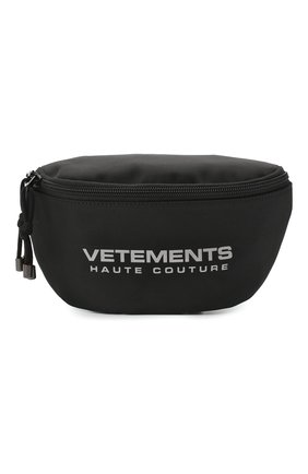 Женская поясная сумка VETEMENTS черного цвета, арт. UAH21BA258 1301/W | Фото 1