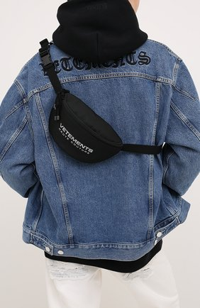 Женская поясная сумка VETEMENTS черного цвета, арт. UAH21BA258 1301/W | Фото 2
