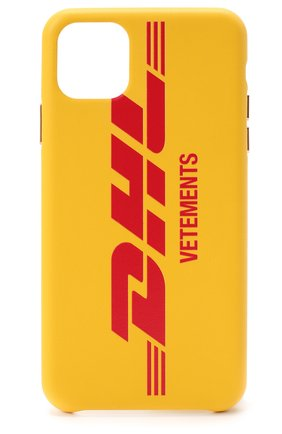 Мужской чехол для iphone 11 pro max VETEMENTS желтого цвета, арт. UAH21AC284 1373/W/IPH0NE 11 PR0 MAX | Фото 1