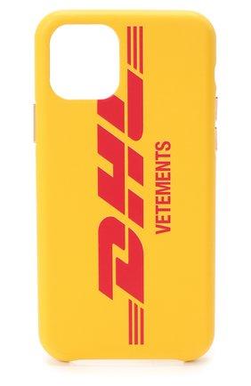 Мужской чехол для iphone 11 pro VETEMENTS желтого цвета, арт. UAH21AC284 1373/W/IPH0NE 11 PR0 | Фото 1