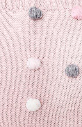 Детский шерстяной шарф-снуд CATYA розового цвета, арт. 024801 | Фото 2