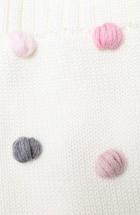 Детский шерстяной шарф-снуд CATYA белого цвета, арт. 024801 | Фото 2