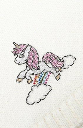 Детский шерстяной шарф-снуд CATYA белого цвета, арт. 024798 | Фото 2