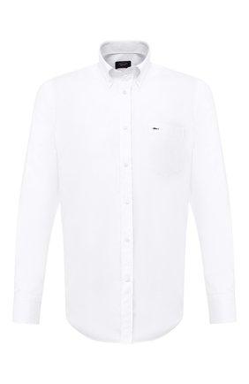 Мужская хлопковая рубашка PAUL&SHARK белого цвета, арт. C0P3000/C00 | Фото 1