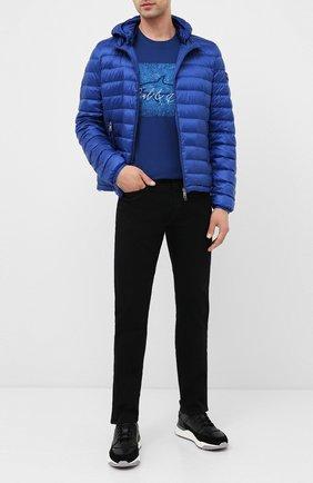 Мужская пуховая куртка PAUL&SHARK синего цвета, арт. C0P2008 | Фото 2