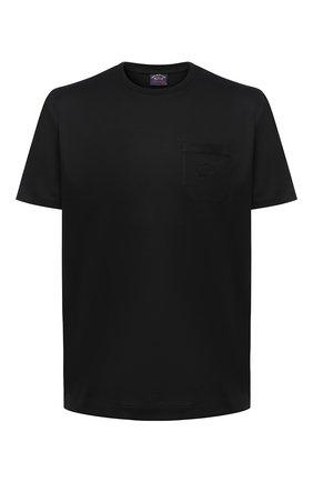 Мужская хлопковая футболка PAUL&SHARK черного цвета, арт. C0P1011/C00 | Фото 1