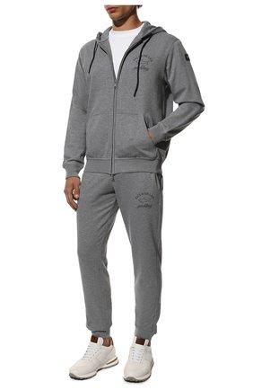 Мужской хлопковый спортивный костюм PAUL&SHARK серого цвета, арт. C0P1065/C00 | Фото 1