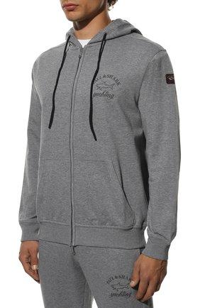Мужской хлопковый спортивный костюм PAUL&SHARK серого цвета, арт. C0P1065/C00 | Фото 2