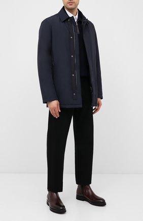 Мужская утепленная куртка PAUL&SHARK темно-синего цвета, арт. I20P2036 | Фото 2