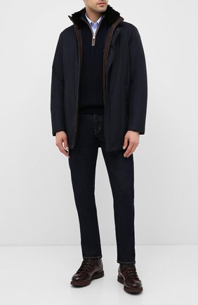 Мужская утепленная куртка PAUL&SHARK темно-синего цвета, арт. I20P2081 | Фото 2