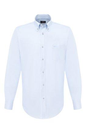 Мужская хлопковая рубашка PAUL&SHARK голубого цвета, арт. I20P3104 | Фото 1