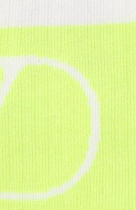 Мужские хлопковые носки VALENTINO желтого цвета, арт. UV3KI00N5H3 | Фото 2