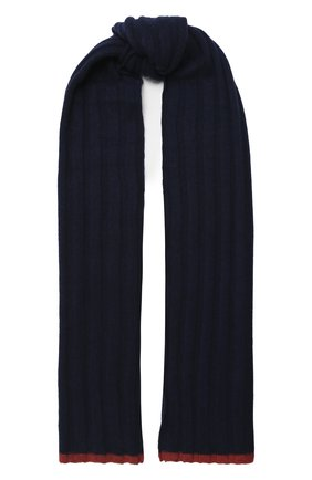 Мужской кашемировый шарф BRUNELLO CUCINELLI темно-синего цвета, арт. M2240819 | Фото 1
