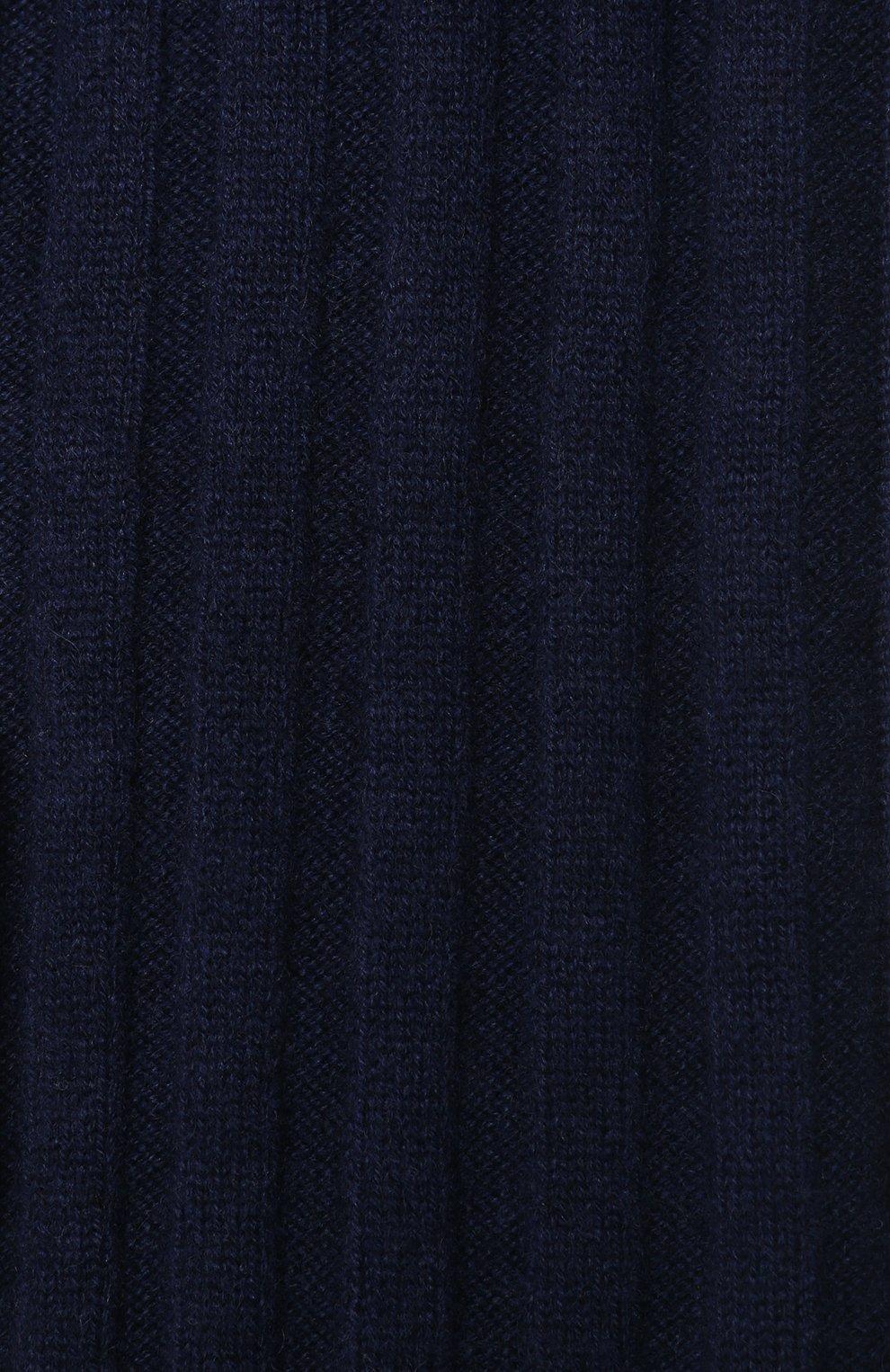 Мужской кашемировый шарф BRUNELLO CUCINELLI темно-синего цвета, арт. M2240819 | Фото 2