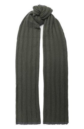 Мужской кашемировый шарф BRUNELLO CUCINELLI хаки цвета, арт. M2240819 | Фото 1