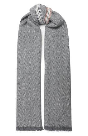 Мужской кашемировый шарф BRUNELLO CUCINELLI светло-серого цвета, арт. MSC642AG | Фото 1