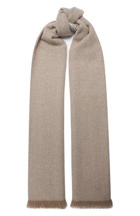 Мужской кашемировый шарф BRUNELLO CUCINELLI бежевого цвета, арт. MSC642AG | Фото 1